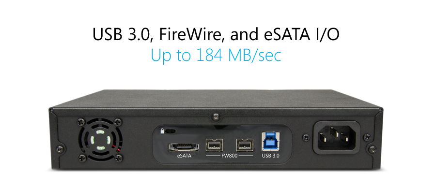 GPT50 provides USB 3.0, FireWire, and eSATA with up to 184 MB/sec in performance.